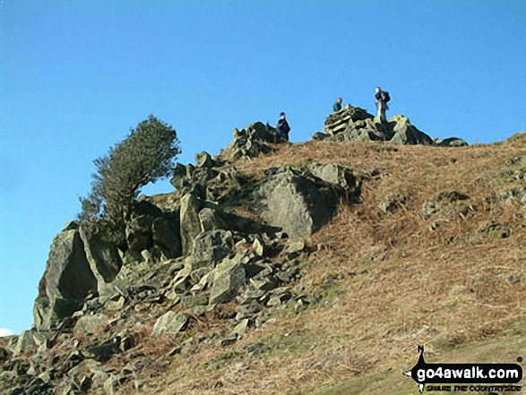 Cairn on Loughrigg Fell above Loughrigg Tarn