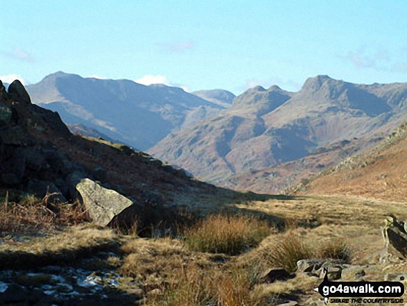 The Langdale Pike from Loughrigg Fell