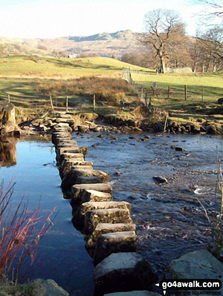 Stepping Stones across the River Rothay near Ambleside