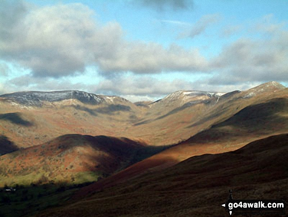 Walk Picture/View: Troutbeck Tongue and Park Fell Head from Sour Howes in The Far Eastern Fells, The Lake District, Cumbria, England by David Hayter (283)