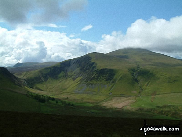 Skiddaw and Bakestall from Little Calva