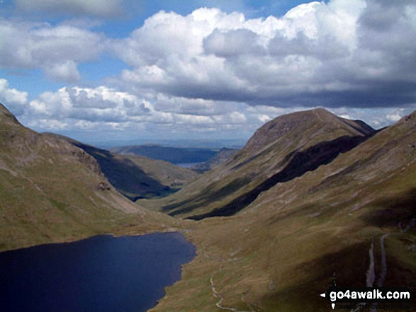 Grisedale from Seat Sandal. Walk route map c266 Seat Sandal and Fairfield from Grasmere photo