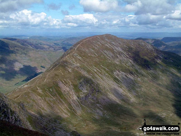 St Sunday Crag from Fairfield. Walk route map c358 Seat Sandal, Fairfield and Heron Pike from Grasmere photo