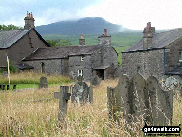 Pen-y-Ghent from Horton in Ribblesdale Churchyard
