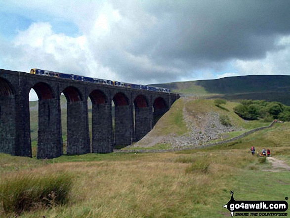 Heading for Whernside from Ribblehead on The Yorkshire Three Peaks Challenge