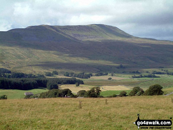 Whernside from Chapel-le-Dale. Walk route map ny101 The Yorkshire Three Peaks from Horton in Ribblesdale (New 2013 Route) photo