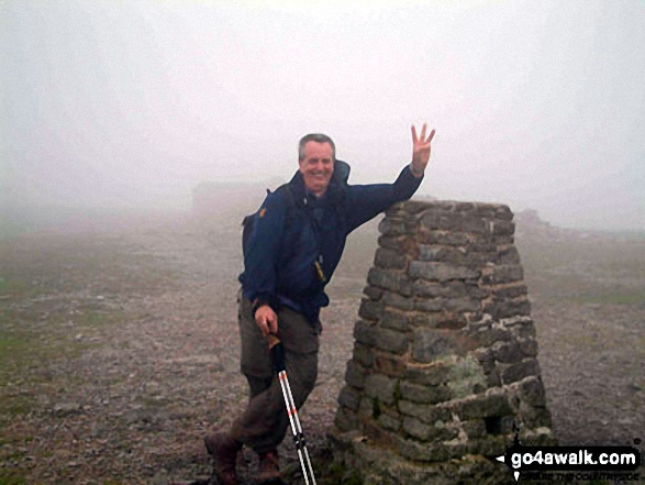 Walk ny191 Ingleborough and Raven Scar from Ingleton - On Ingleborough summit