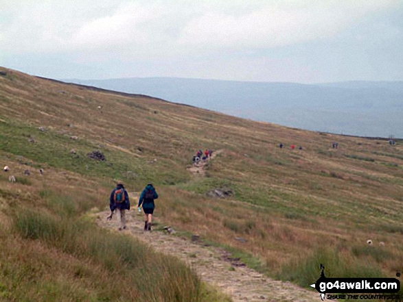 The long haul back to Horton in Ribblesdale from Ingleborough