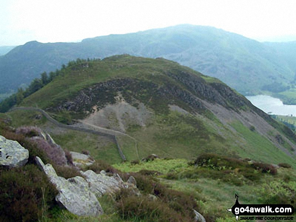 Glenridding Dodd from Heron Pike. Walk route map c230 The Scandale Beck Horizon from Ambleside photo