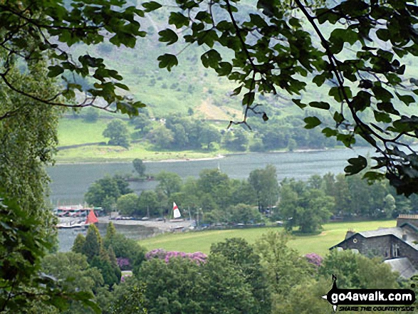Ullswater from Glenridding. Walk route map c192 Helvellyn Ridge from Glenridding photo
