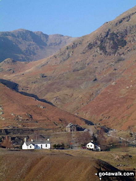 Coppermines Valley from near the Miners Bridge, Coniston. Walk route map c254 The Old Man of Coniston and Brim Fell from Coniston photo