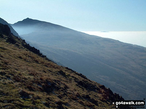 Walk c222 Swirl How and Wetherlam from Coniston - Dow Crag from Levers Hawse