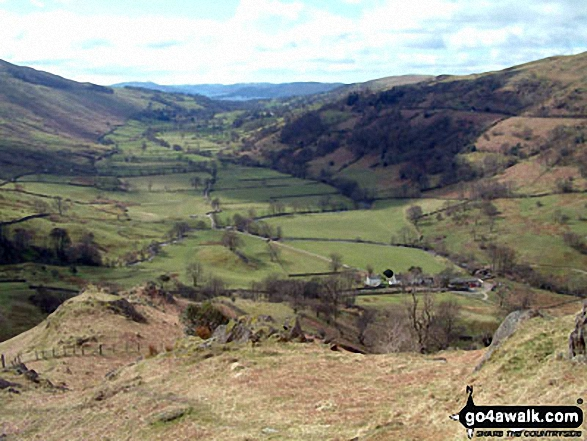 Looking South towards Troutbeck and Windermere from Troutbeck Tongue summit