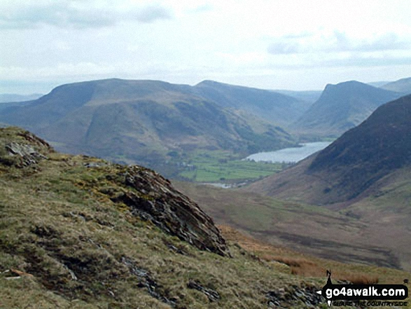 High Snockrigg and Robinson, Buttermere and Fleetwith Pike from the summit of Hen Comb