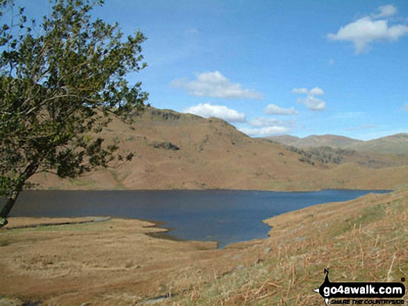 Easedale Tarn. Walk route map c173 Easedale Tarn from Grasmere photo
