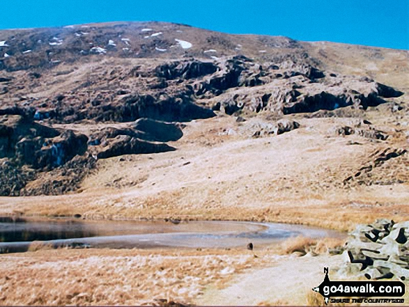 Dalehead Tarn. Walk route map c100 The Newlands Horseshoe from Hawes End photo