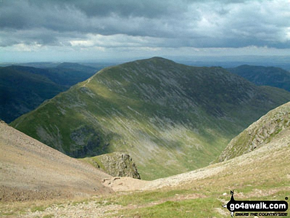 St Sunday Crag from Fairfield. Walk route map c247 The Fairfield Horseshoe from Ambleside photo