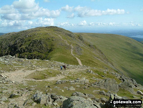 The path from Fairfield to Hart Crag. Walk route map c247 The Fairfield Horseshoe from Ambleside photo