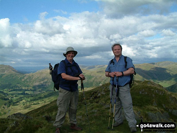 On Hartsop above How summit - my last Wainwright. Walk route map c235 The Deepdale Horseshoe from Patterdale photo
