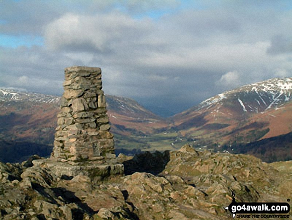 Loughrigg Fell summit trig point