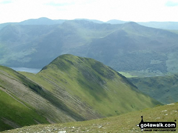 Walk Wandope walking UK Mountains in The North Western Fells The Lake District National Park Cumbria    England