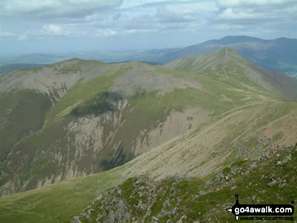 Hopegill Head and Grisedale Pike from Wandope