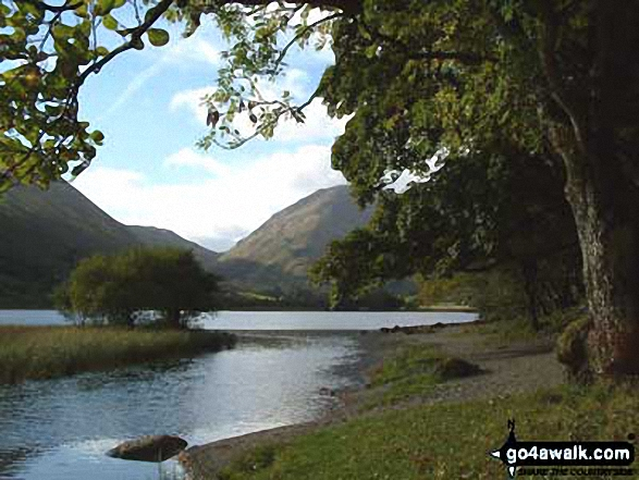 High Hartsop Dodd from Brothers Water. Walk route map c128 The Hayswater Round from Hartsop photo