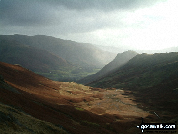 Walk c218 Ullscarf and High Raise from Thirlmere - Greenburn Bottom and Helm Crag from Calf Crag
