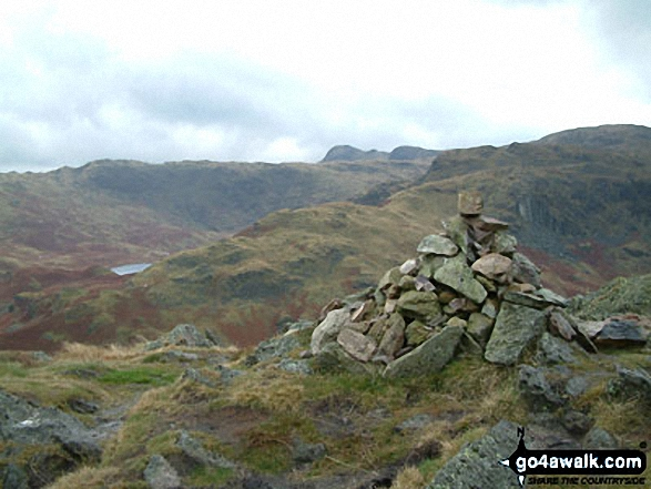 Walk Gibson Knott walking UK Mountains in The Central Fells The Lake District National Park Cumbria    England