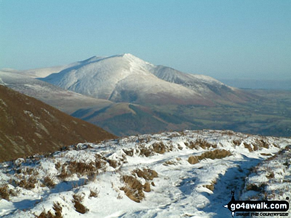 Blencathra or Saddleback from Ard Crags. Walk route map c345 Knott Rigg and Ard Crags from Little Town photo