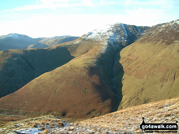 Whiteless Pike from Knott Rigg. Walk route map c345 Knott Rigg and Ard Crags from Little Town photo