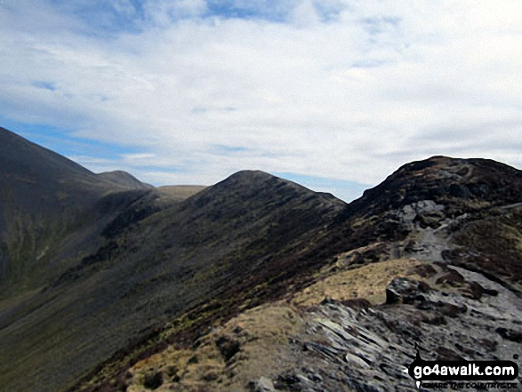 The Shoulder of Skiddaw (left) and Longside Edge from Ullock Pike with Little Man (Skiddaw) in the distance