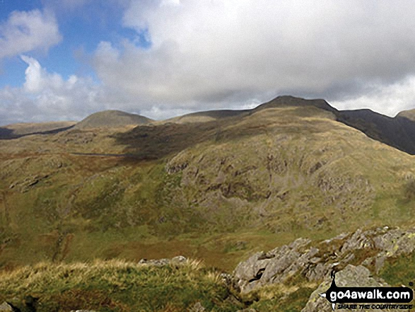 Haycock, Little Scoat Fell and Red Pike (Wasdale) from the summit of Yewbarrow