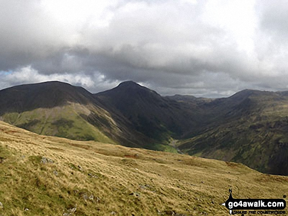 Kirk Fell, Great Gable, Great End and Lingmell from the summit of Yewbarrow