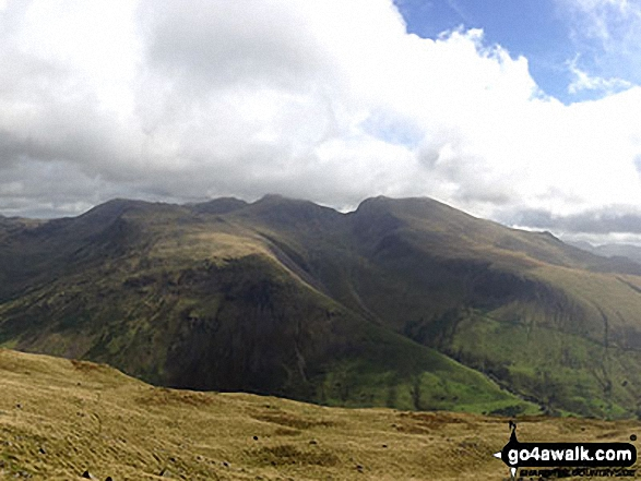 Great End, Lingmell, Scafell Pike, Sca Fell and Slightside from the summit of Yewbarrow