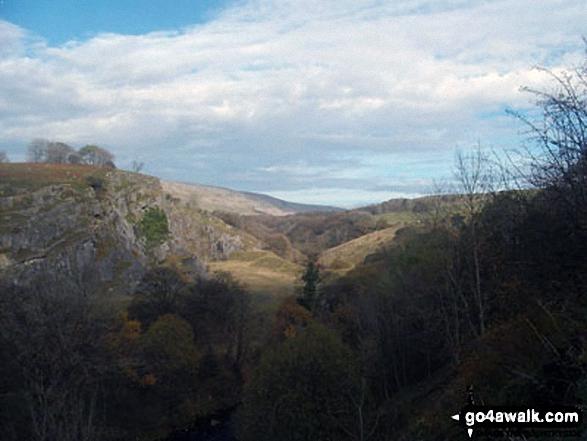 Above The Ingleton Waterfalls near Twistleton Hall