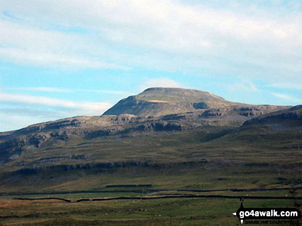 Ingleborough from The River Doe above The Ingleton Waterfalls