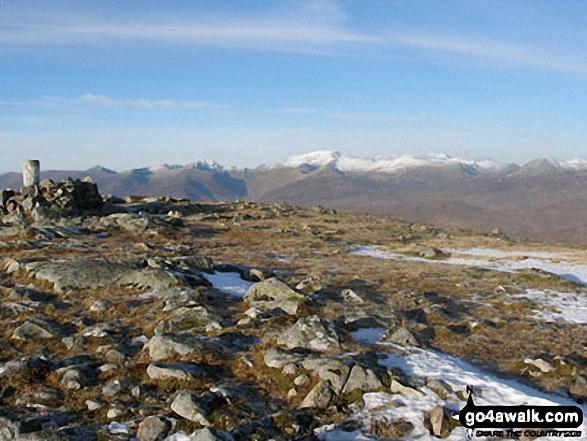 Ben Nevis and Aonach Mor from the summit of Beinn a' Chrulaiste