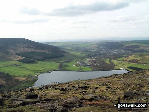 Dovestones Reservoir from Bramley's Cot