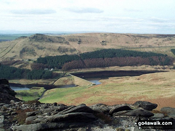 Dovestones and Yeoman Hey Reservoirs from Dean Rocks