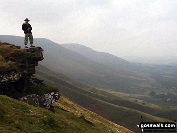 Me standing on the edge near Hay Bluff during a weekend in the Black Mountains