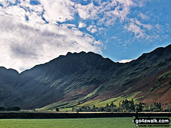 Hay Stacks from Gatesgarth, SE of Buttermere. Walk route map c228 Hay Stacks from Buttermere photo