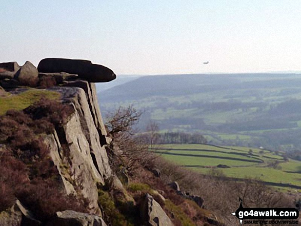 Military Jet passing Baslow Edge