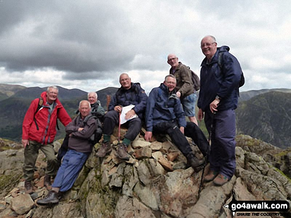 The Runaway Ramblers on top of Hay Stacks (Haystacks) Featuring Pete, Peter, Ralph, David, Melvyn, Mike and Eric. May 2011