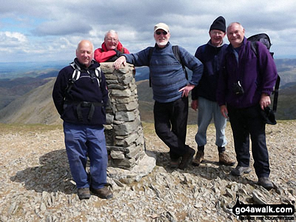 The Runaway Ramblers on Helvellyn Featuring Peter, Pete, Brian, Melvyn and David. May 2010