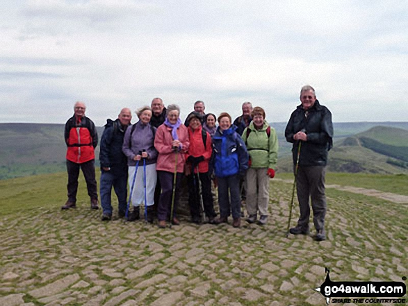 The Jubilee Walkers on top of Mam Tor May 2011