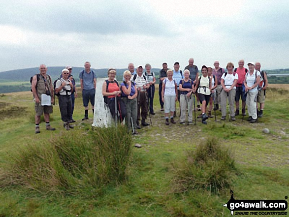 The Jubilee Walkers on Nicky Nook above Scorton August 2011