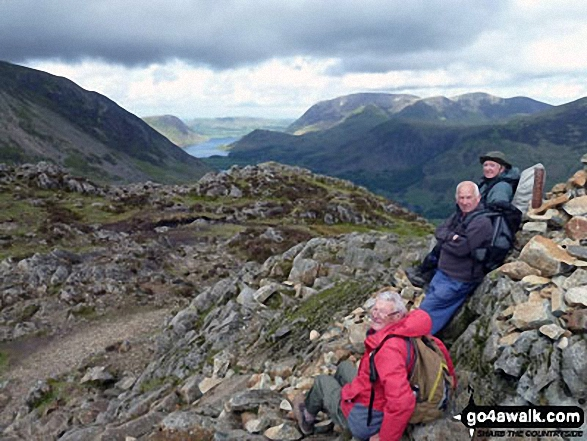 Runaway Ramblers from Bury Lancs on top of Hay Stacks (Haystacks)
