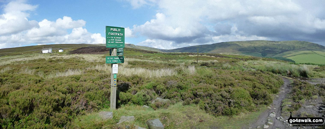 Junction with the Snake Path on Middle Moor (Hayfield)