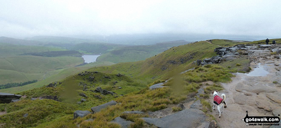 Kinder Reservoir from The Pennine Way on The Kinder Scout Plateau near Kinder Downfall